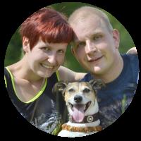 Daniela, Sven Lachmund und Mani der Jack Russel Terrier